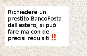 prestito bancoposta all'estero